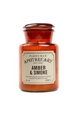 PAX - Glass Soy Candle/Amber & Smoke 8oz