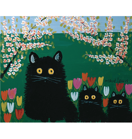 "Maud Lewis - Print/Three Black Cats 8"" x 10"""