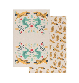 DCA - Tea Towel/Set 2 Tiger