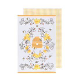 DCA - Tea Towel/Set 2, Buzz