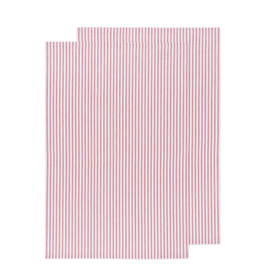 DCA - Glass Towel/Set 2, Red Stripe