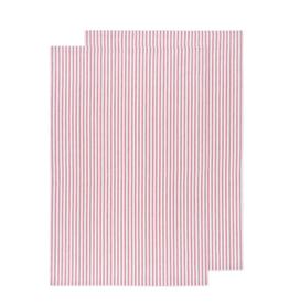 DCA - Glass Towel/Set 2 Red Stripe