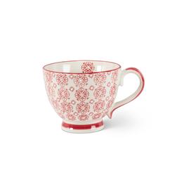 ATT - Mug/Red & White Flower, 12oz