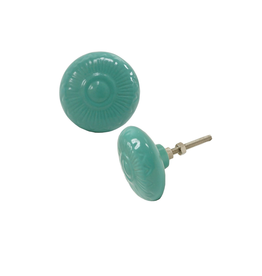 NTH - Knob/Embossed Teal, Ceramic