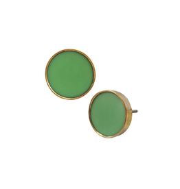 NTH - Knob/Polished Resin & Brass, Spring Green