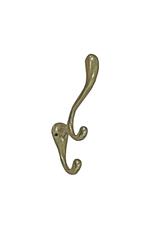 NTH - Triple Wall Hook/Cast Iron, Brass, 5''