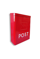 NTH - Post Words Mailbox/Galvanized, Red