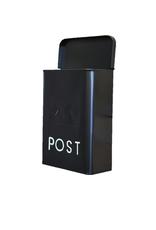 NTH - Post Words Mailbox/Galvanized, Black