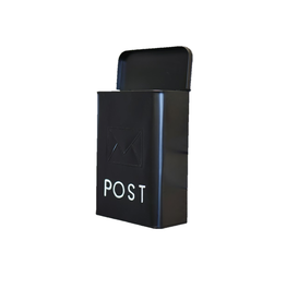 NTH - Post Words Mailbox/Galvanized, Black