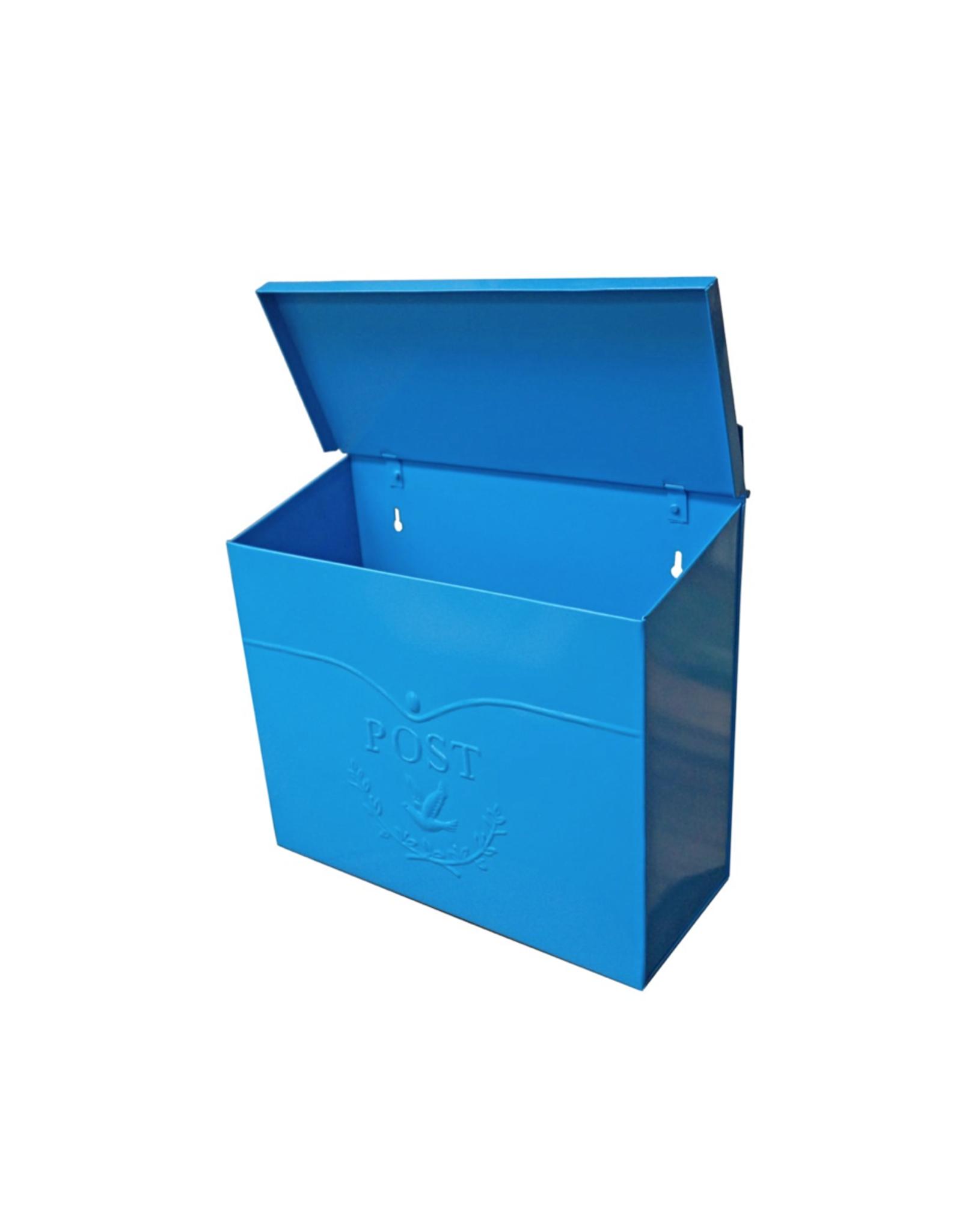 NTH - Post Mailbox/Embossed Bird, Blue