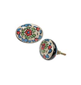 NTH - Knob / Bright Floral, Ceramic
