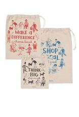 DCA - Cotton Produce Bags/Set 3 Shop Local