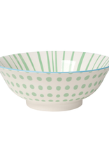 DCA - Stamped Bowl/Mint Dot 8""