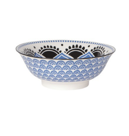 DCA - Stamped Bowl/Blue Flower 8""