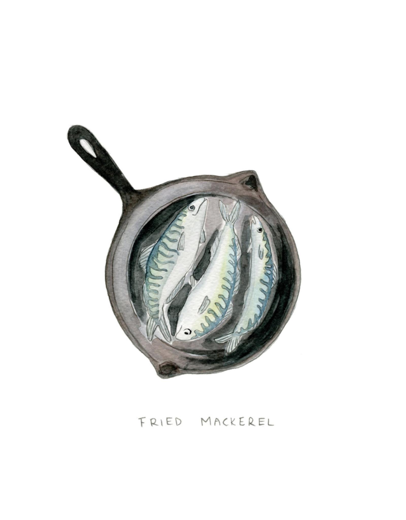 "Kat Frick Miller - Card/Fried Mackerel, 4.25 x 5.5"""