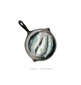 Kat Frick Miller - Card/Fried Mackerel, 4.25 x 5.5""