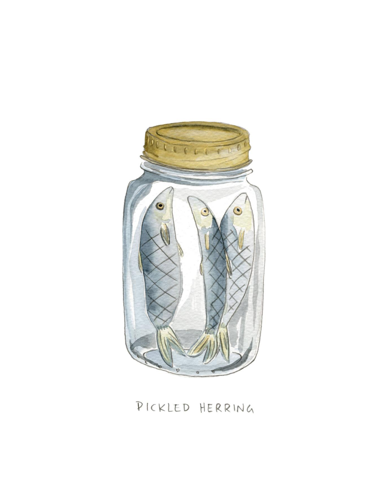 "Kat Frick Miller - Card/Pickled Herring, 4.25 x 5.5"""