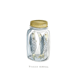 Kat Frick Miller - Card/Pickled Herring, 4.25 x 5.5""
