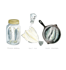 """Kat Frick Miller - Print/Fish Trilogy 11 x 14"""""""