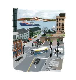 """Kat Frick Miller - Print/Halifax Harbour 8 x 10"""""""