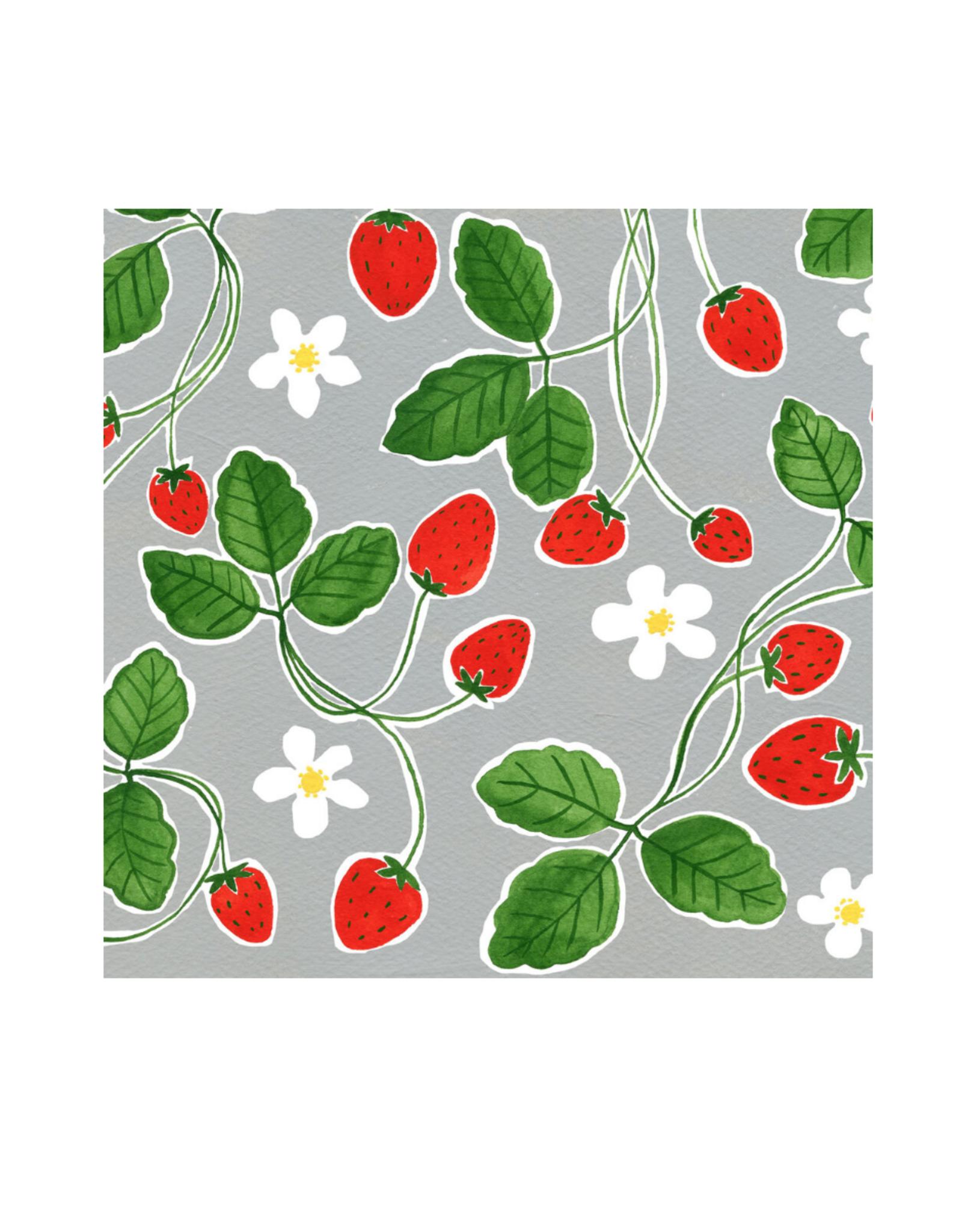 "Kat Frick Miller - Card/Strawberries, 5.75 x 5.75"""
