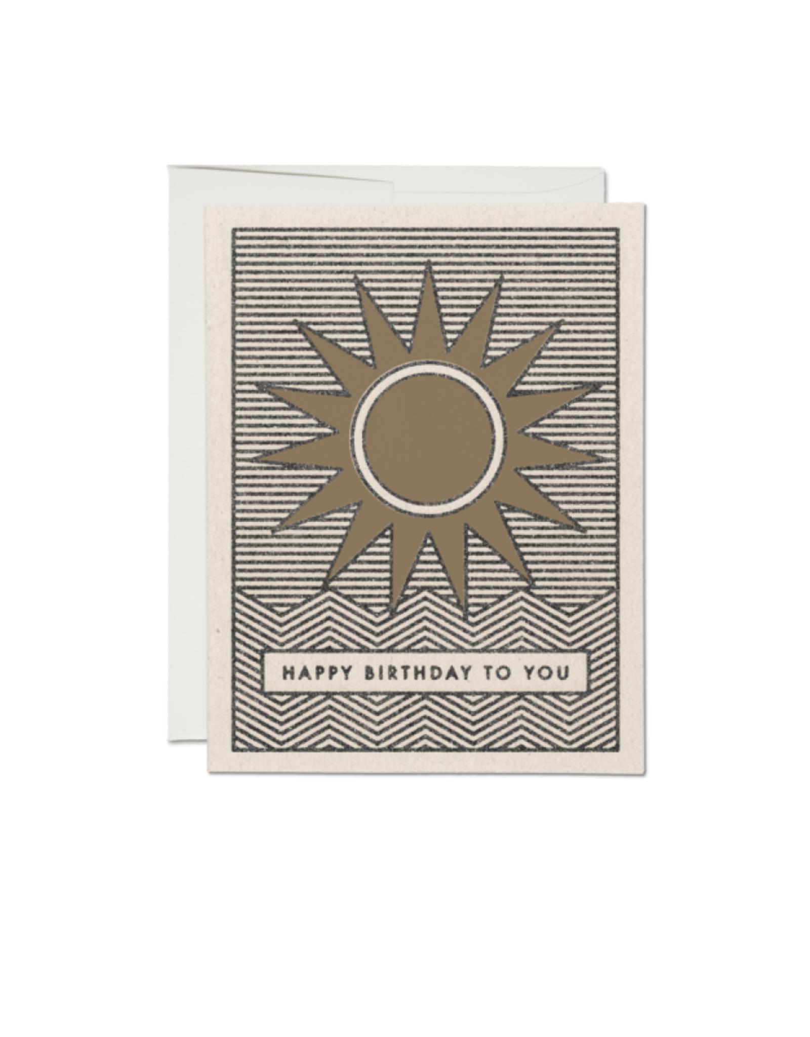 "RAP - Card / Happy Birthday to You, Sun, 4.25 x 5.5"""