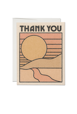 "RAP - Card / Thank You, Sunset, 4.25 x 5.5"""