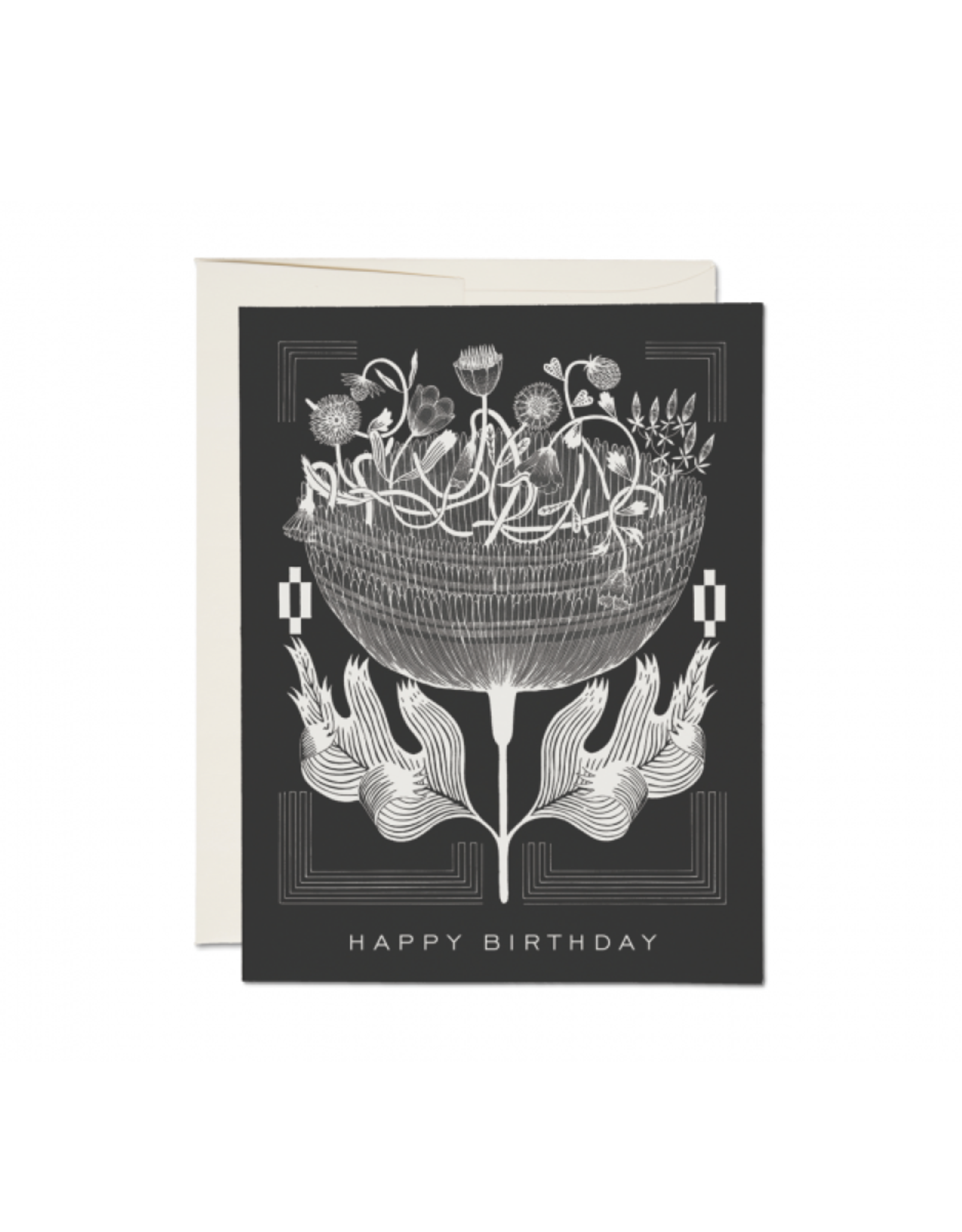"RAP - Card/Vintage Floral, Birthday, 4.25 x 5.5"""