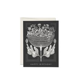 """RAP - Card / Happy Birthday, Vintage Floral, 4.25 x 5.5"""""""