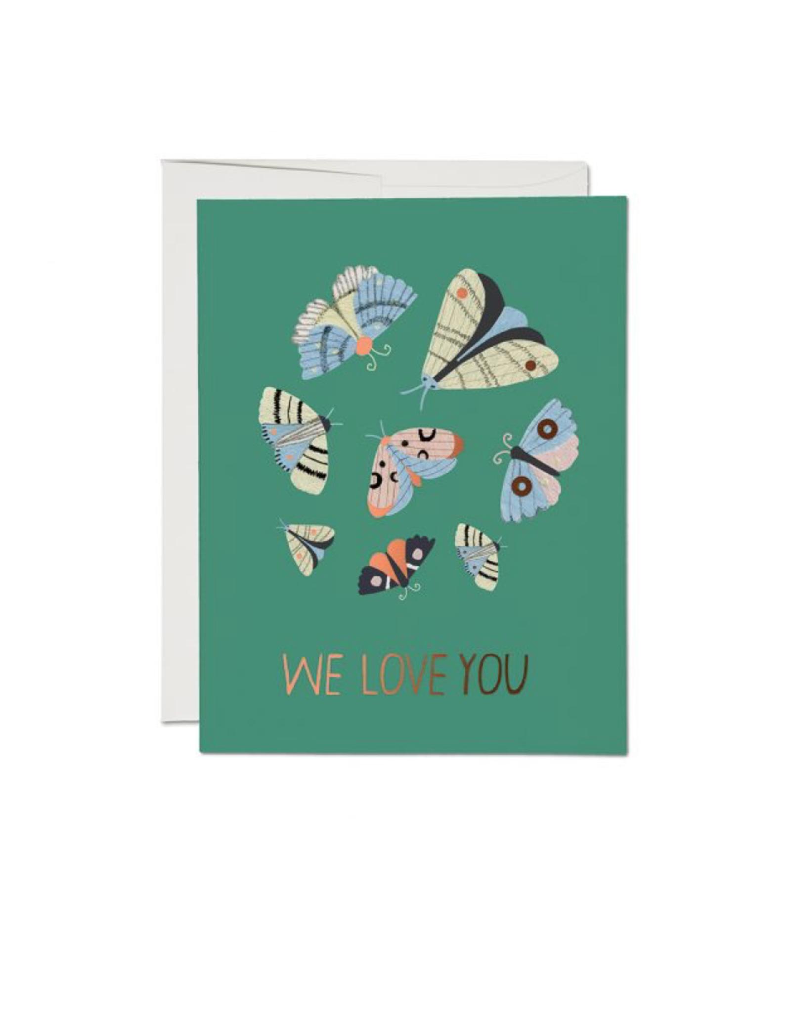 """RAP - Card/Moths, Love, 4.25 x 5.5"""""""
