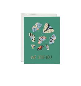 "RAP - Card / We Love You, Moths, 4.25 x 5.5"""