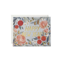 Card - New Years Flower Card Boxed Set