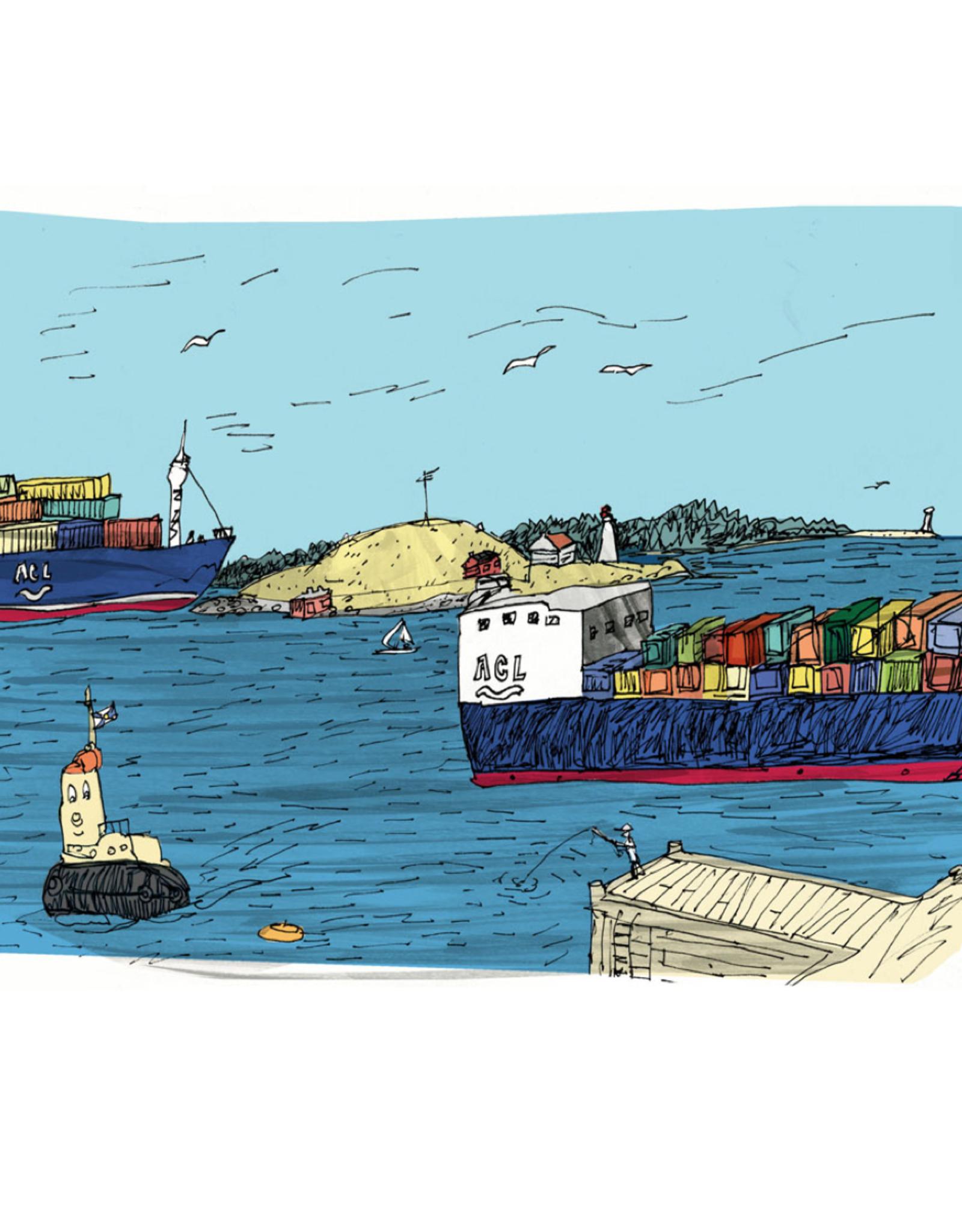 """Emma Fitzgerald - Print/George's Island, 8.5 x 11"""""""
