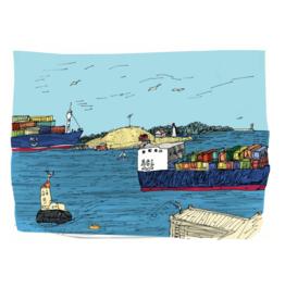"""Emma Fitzgerald - Print/George's Island 8.5 x 11"""""""