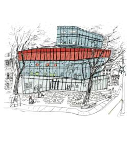 "Emma Fitzgerald - Print/Halifax Central Library 8.5"" x 11"""