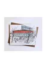 "Emma Fitzgerald - Card / Halifax Central Library, 4.25 x 5.5"""