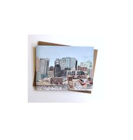"Emma Fitzgerald - Card/Halifax Skyline, 4.25 x 5.5"""