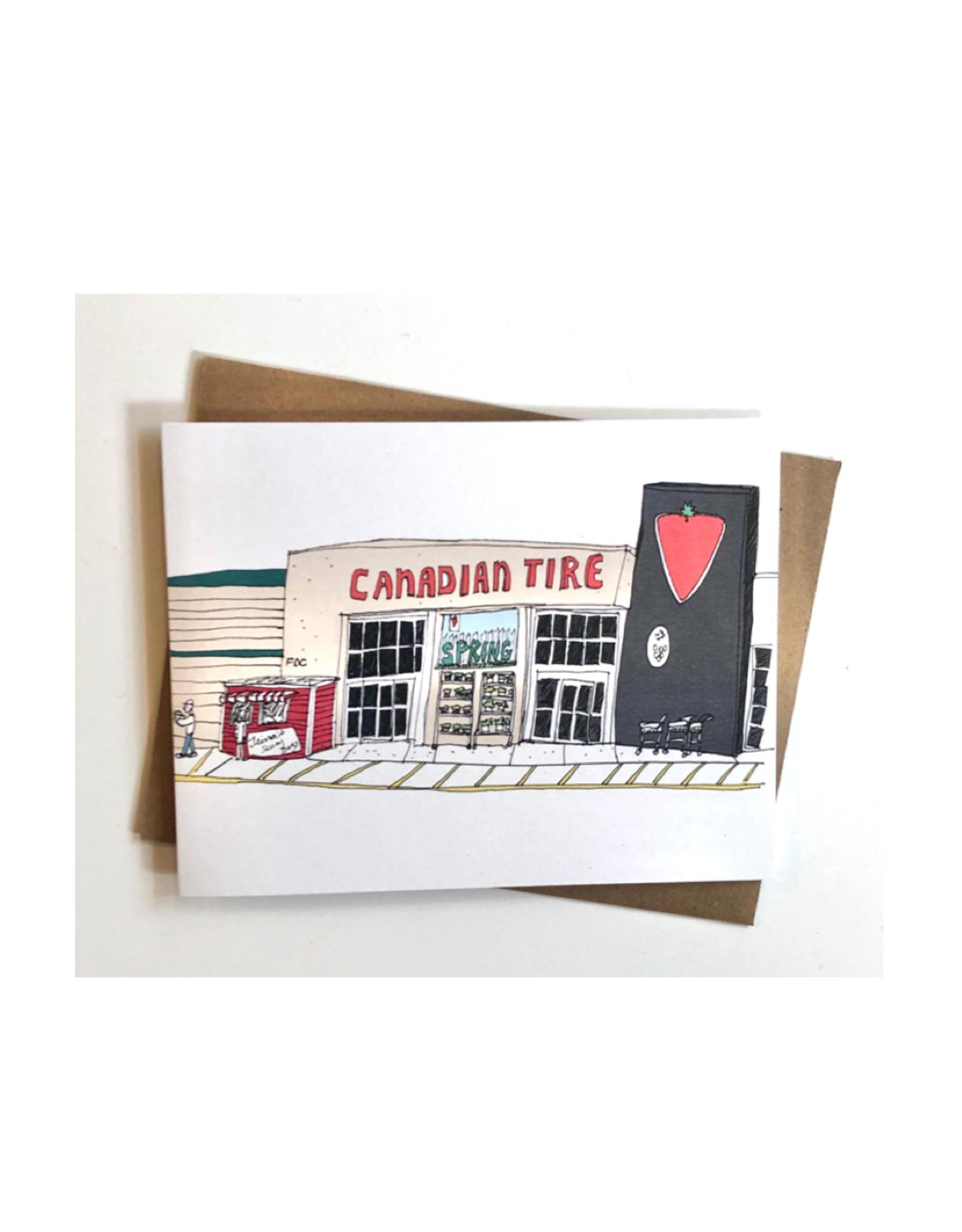 """Emma Fitzgerald - Card/Canadian Tire, 4.25 x 5.5"""""""