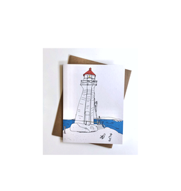 "Emma Fitzgerald - Card/Peggy's Cove, 4.25 x 5.5"""