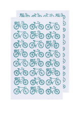 DCA - Tea Towel/Set 2, Floursack Teal Print
