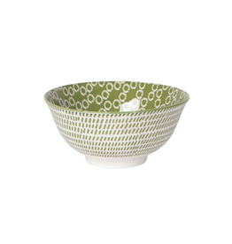 DCA - Bowl/Circles, Green 6""