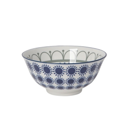 DCA - Stamped Bowl/Grey & Navy Sun 6""