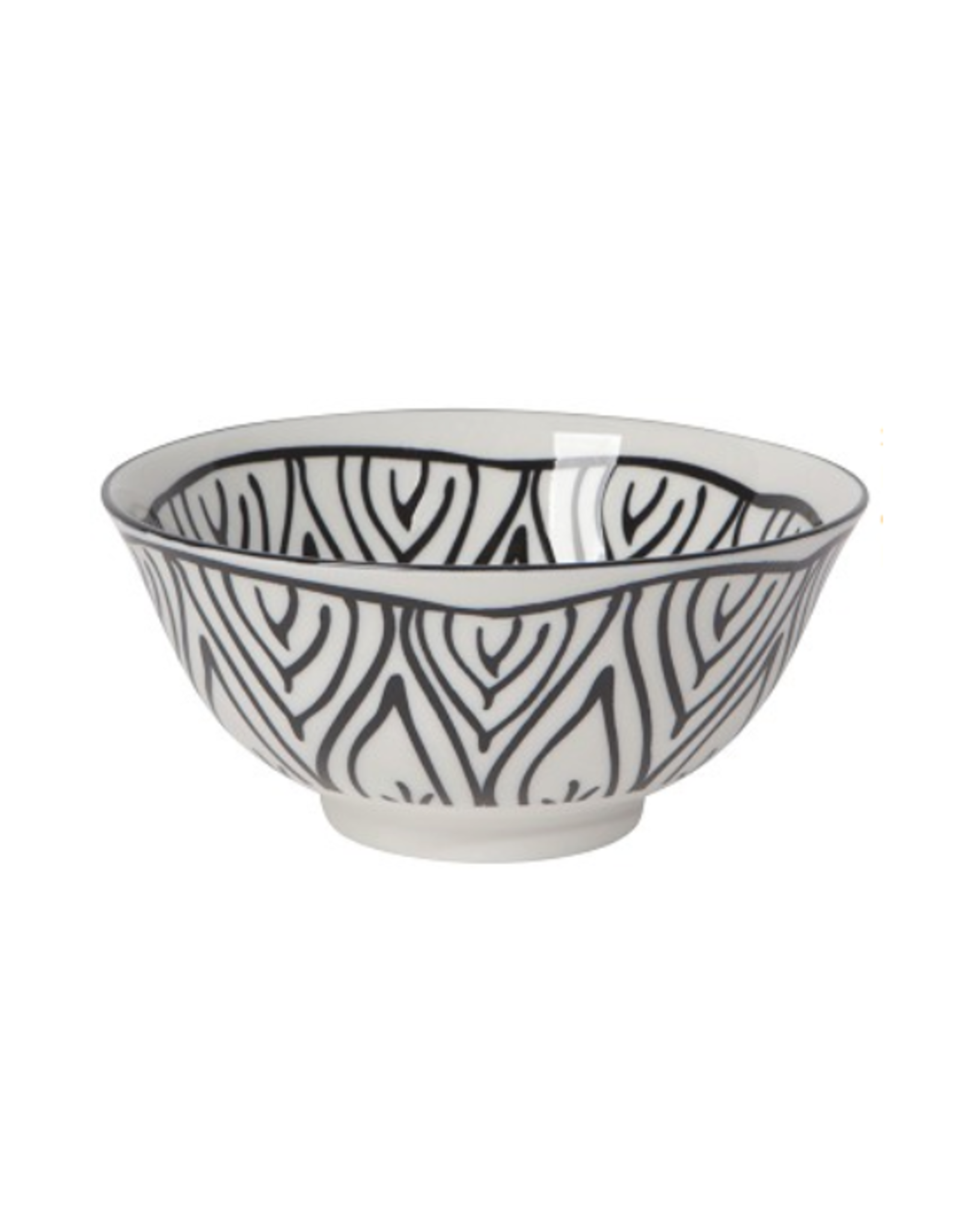 DCA - Bowl/Flower, Black, 6""