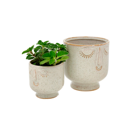 "IBA - Plant Pot/Sweet Face, Sand, 4"""