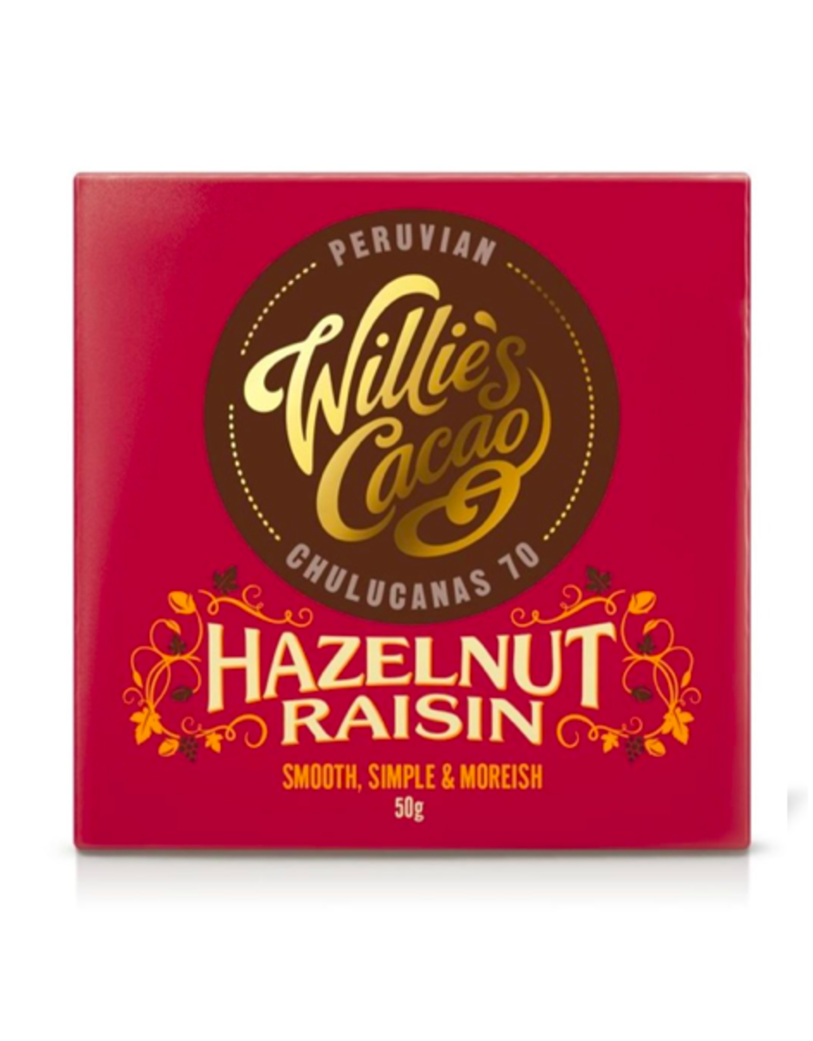 DLE - Willie's Cacao Hazelnut Raisin Bar 50g