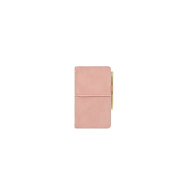DKS - Vegan Suede Undated Folio & Pen/Blush