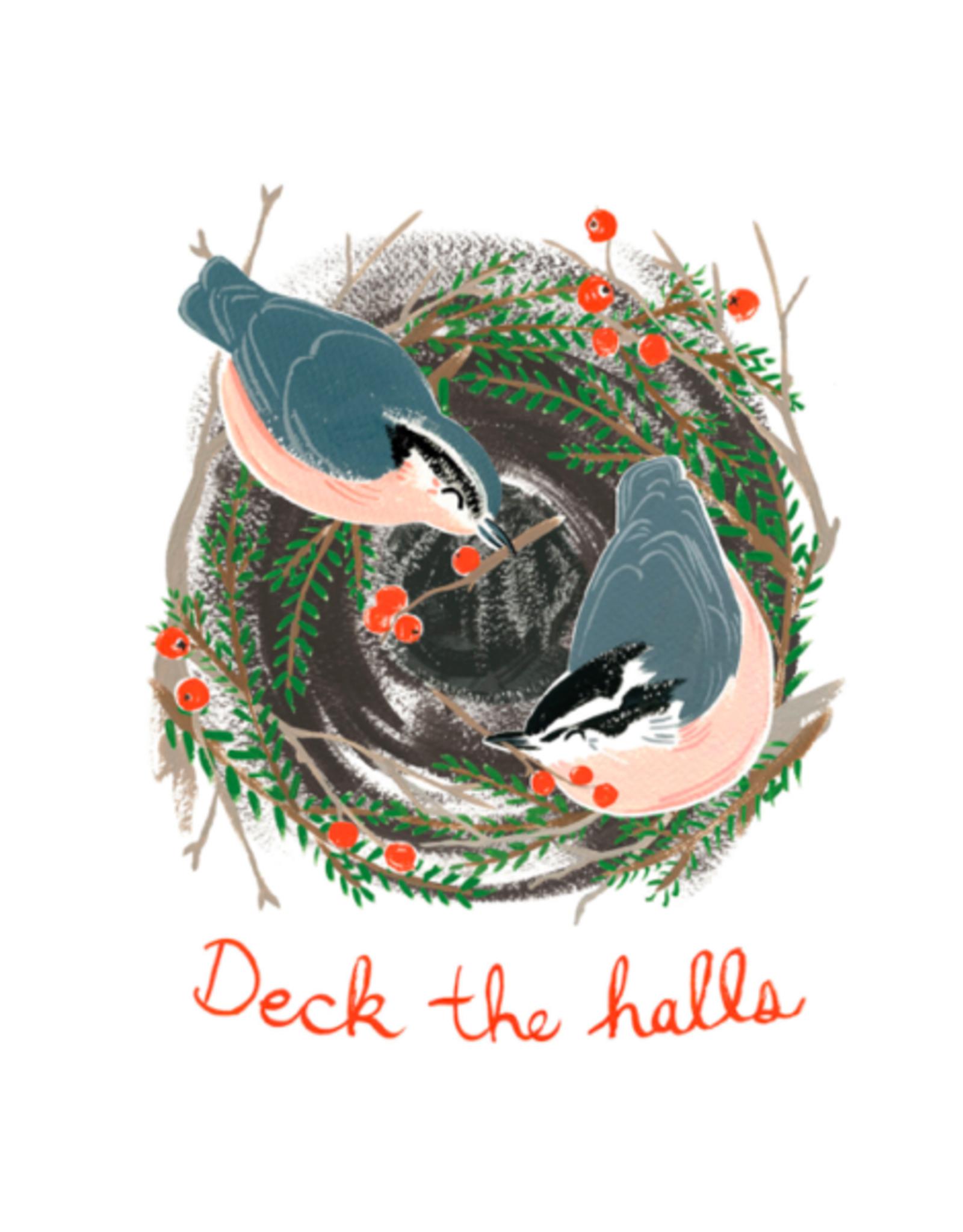 Kat Frick Miller - Card/Deck The Halls Nuthatches