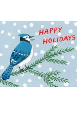 Kat Frick Miller-  Card/Set 6, Happy Holidays Blue Jay