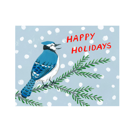 Kat Frick Miller -  Card/Happy Holidays Blue Jay