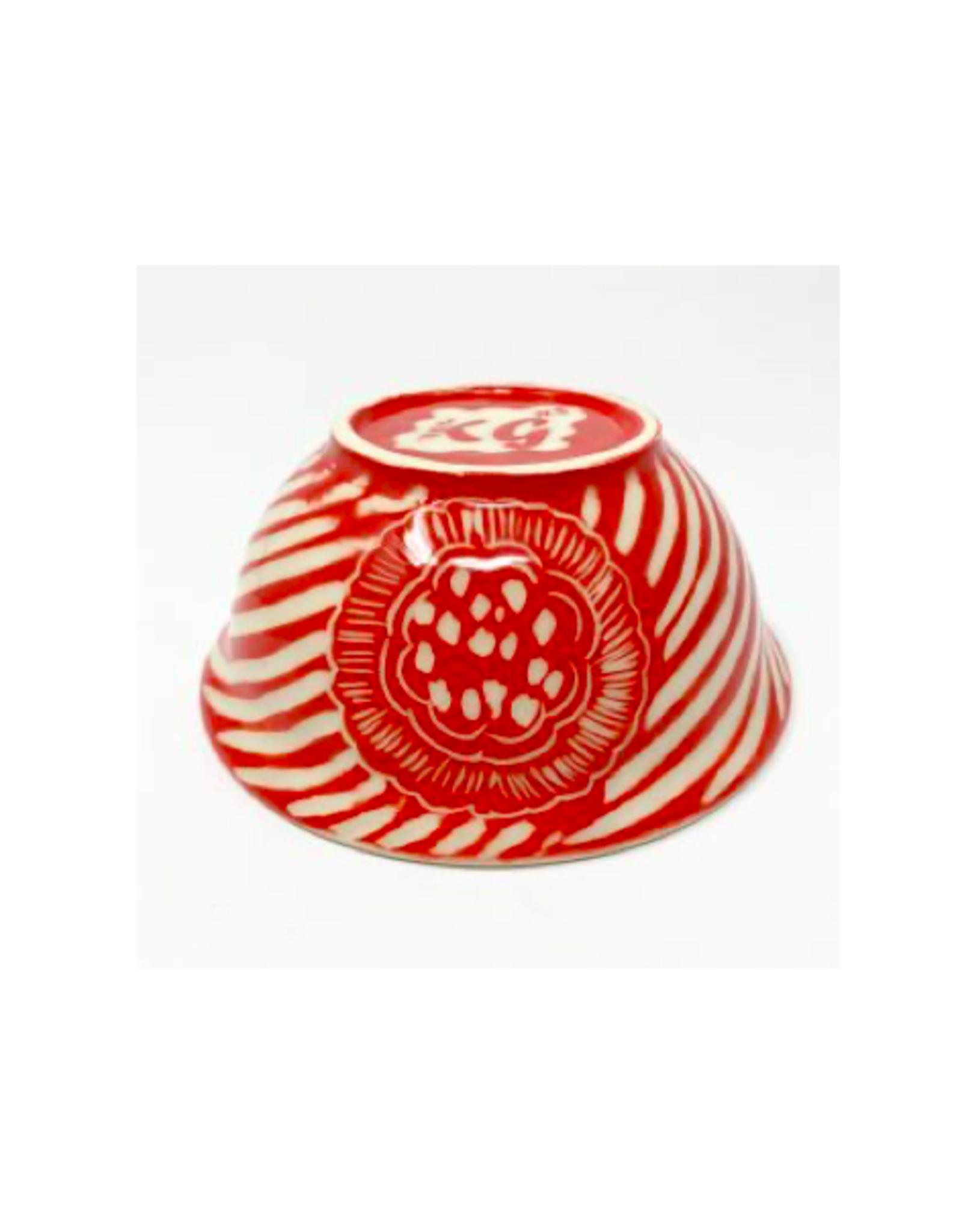 KG Ceramics Studio KG Ceramics - Large Bowl/Red
